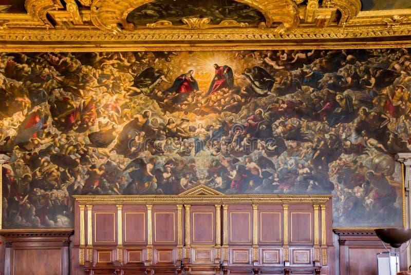 Ημέρα της Κρίσεως μέσα doge στο παλάτι στη Βενετία στοκ εικόνες