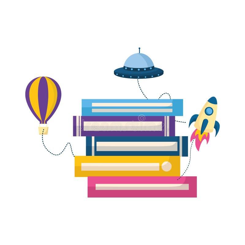 Ημέρα παγκόσμιων βιβλίων ελεύθερη απεικόνιση δικαιώματος