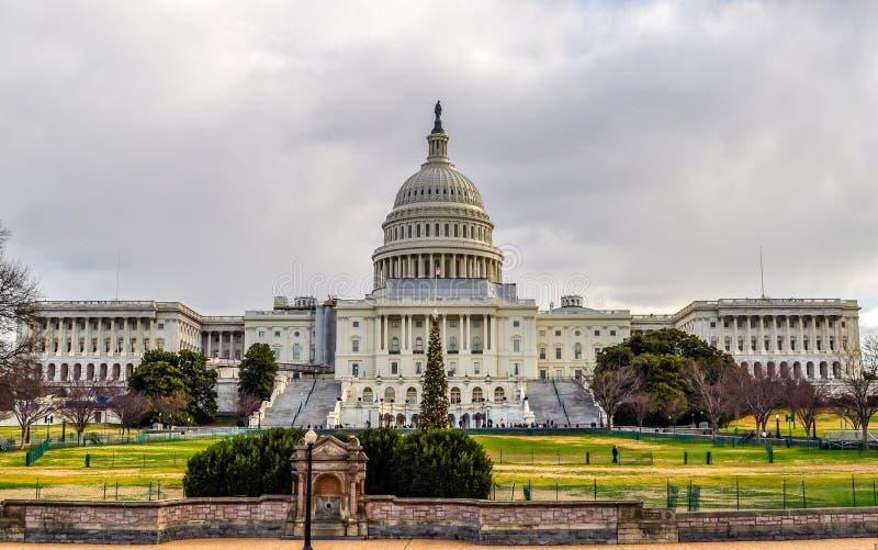 Ηνωμένο Capitol κτήριο στα Χριστούγεννα στοκ φωτογραφία