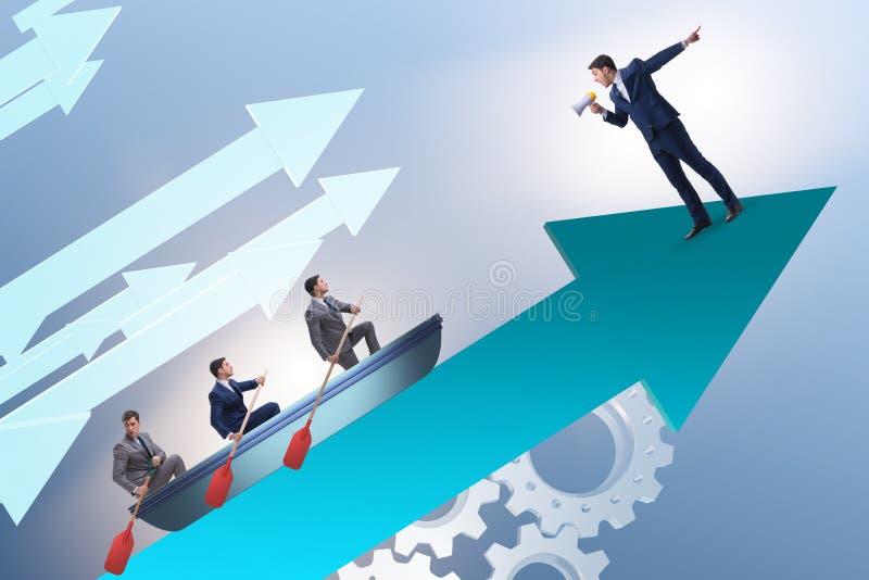 Η έννοια ηγεσίας με τους διάφορους επιχειρηματίες στοκ φωτογραφία με δικαίωμα ελεύθερης χρήσης