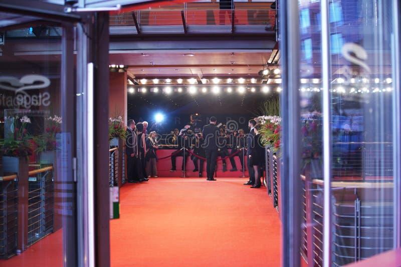 Η ατμόσφαιρα παρευρίσκεται στο Berlinale στοκ εικόνα