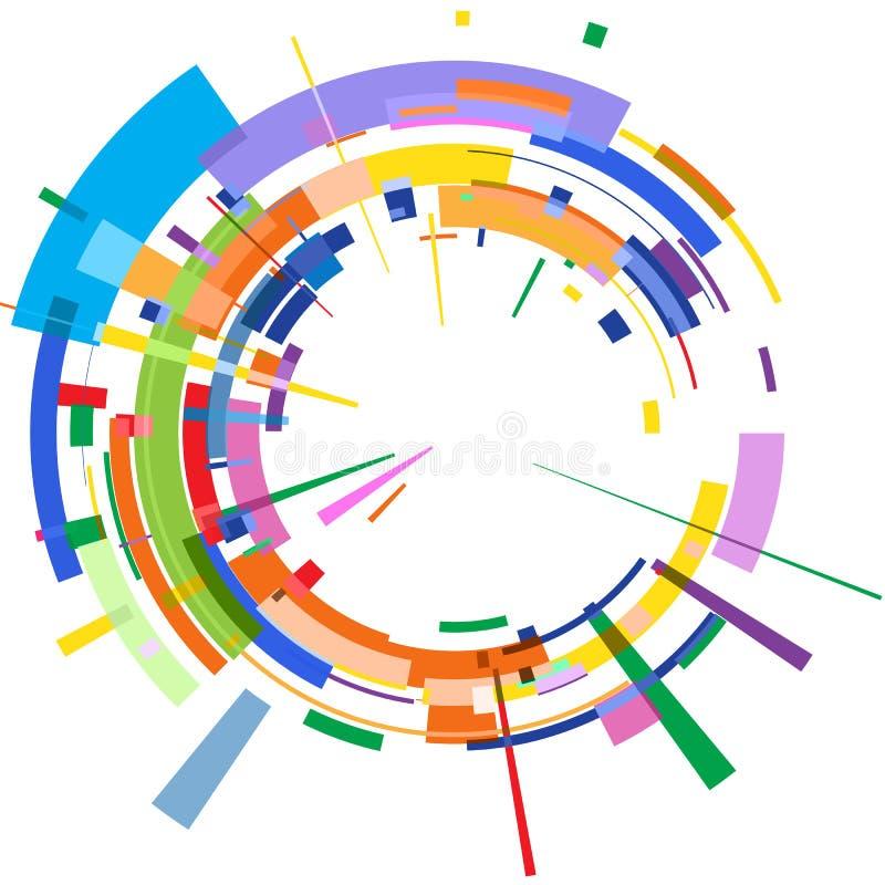 Η αφηρημένη πολύχρωμη ακτινωτή τρισδιάστατη εικόνα απεικόνιση αποθεμάτων