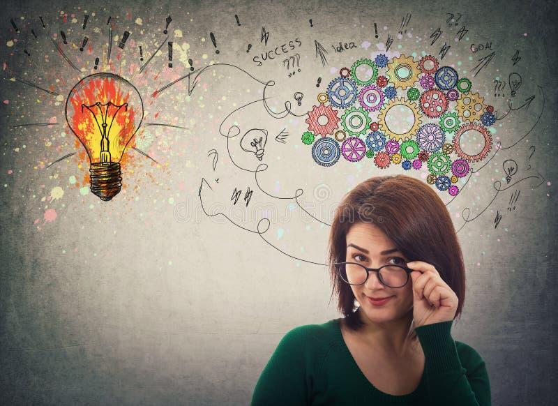 η επιχειρηματίας έχει τις ιδέες ελεύθερη απεικόνιση δικαιώματος