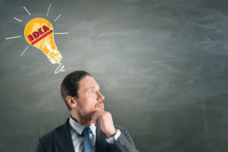 Η ιδέα και σκέφτεται την έννοια στοκ εικόνα με δικαίωμα ελεύθερης χρήσης