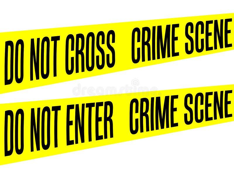 Η κίτρινη σκηνή εγκλήματος εμποδίων ταινιών δεν εισάγει ή δεν διασχίζει το διάνυσμα συλλογής που απομονώνεται απεικόνιση αποθεμάτων