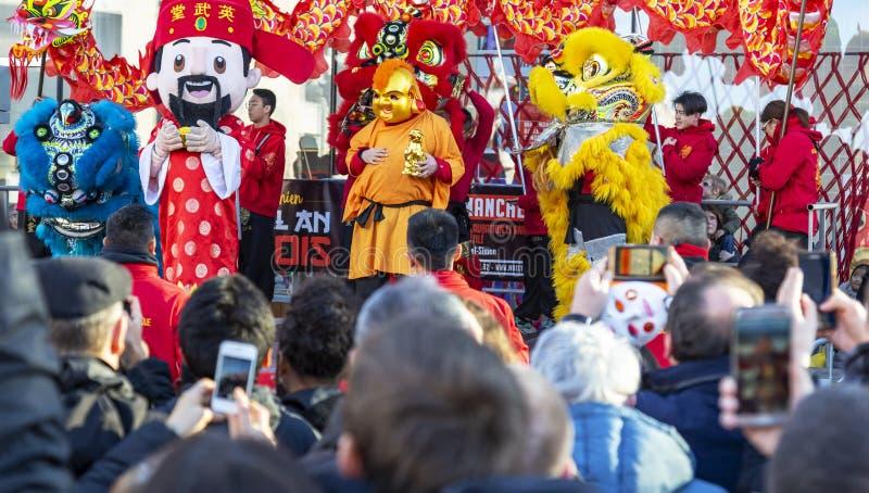 Η κινεζική νέα παρέλαση έτους - το έτος του σκυλιού, 2018 στοκ εικόνα με δικαίωμα ελεύθερης χρήσης