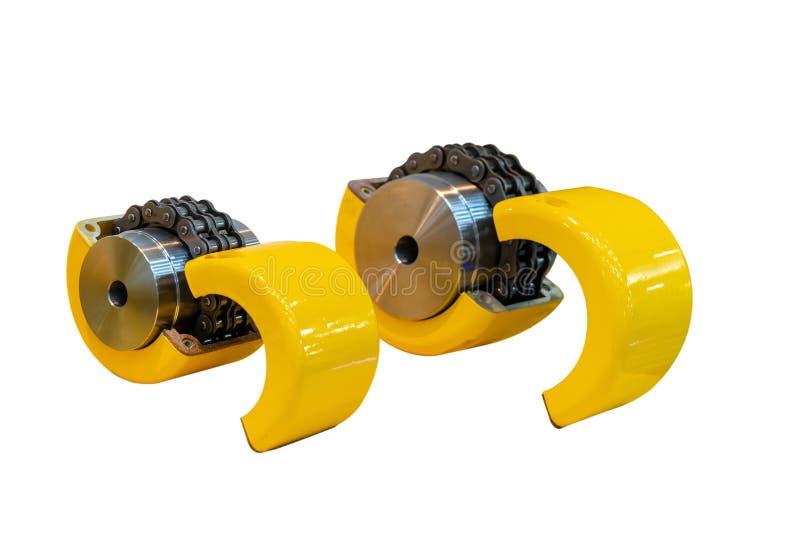 Η νέα εύκαμπτη σύζευξη αλυσίδων για τη δύναμη μετάδοσης στο βιομηχανικό κύλινδρο δύο-σκελών εργασίας αλυσοδένει περίπου τον τύπο  στοκ εικόνα με δικαίωμα ελεύθερης χρήσης