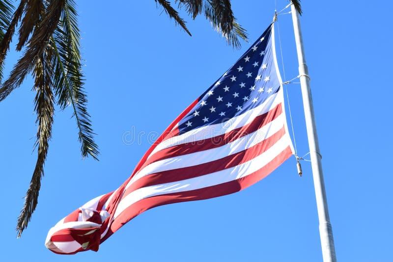 Η σημαία των Ηνωμένων Πολιτειών της Αμερικής στοκ φωτογραφία με δικαίωμα ελεύθερης χρήσης