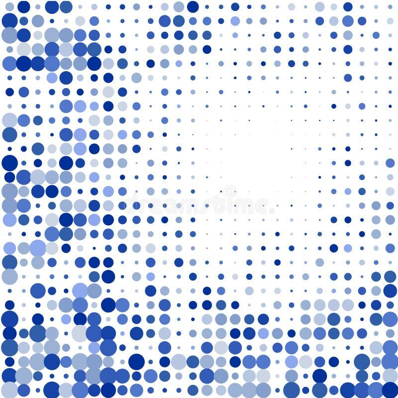 Η σύνθεση από τους μπλε κύκλους στο άσπρο υπόβαθρο απεικόνιση αποθεμάτων