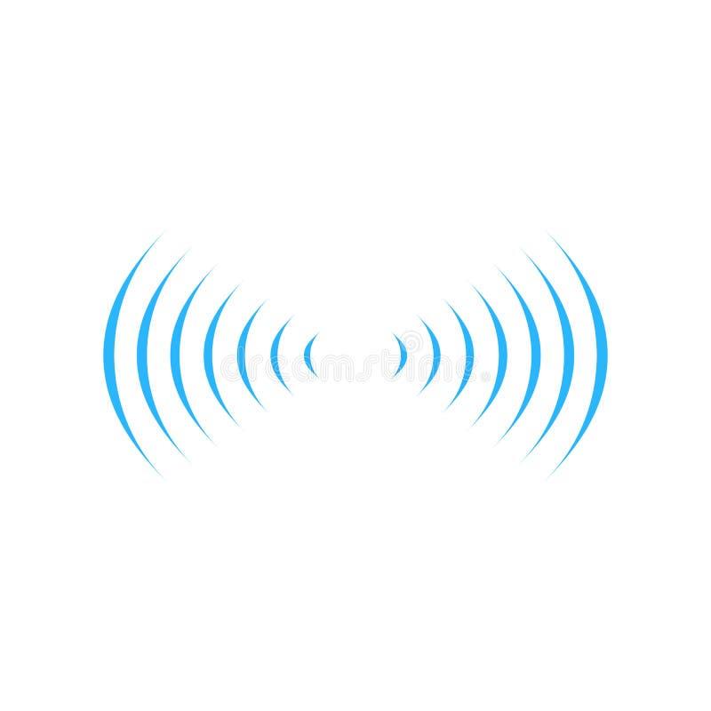 η σύνδεση σημάτων ήχου wifi σε δύο dirrections, ηχεί το σύμβολο λογότυπων ραδιο κυμάτων Απεικόνιση που απομονώνεται διανυσματική  ελεύθερη απεικόνιση δικαιώματος