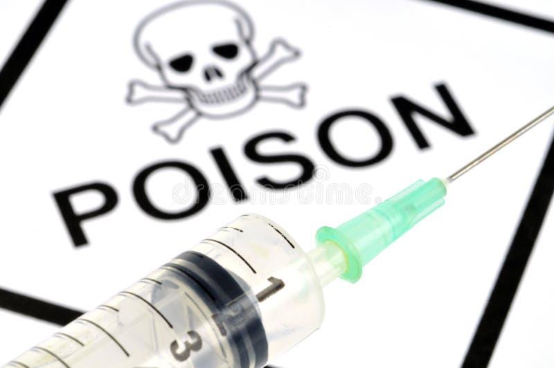 Η σύριγγα δηλητήριων στοκ φωτογραφία με δικαίωμα ελεύθερης χρήσης