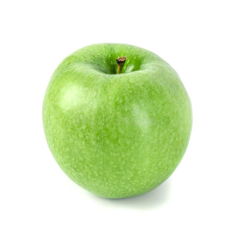 Η τέλεια φρέσκια πράσινη Apple που απομονώνεται στο άσπρο υπόβαθρο στοκ εικόνες με δικαίωμα ελεύθερης χρήσης