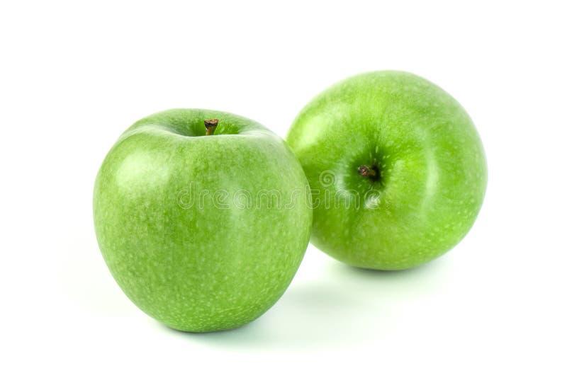 Η τέλεια φρέσκια πράσινη Apple που απομονώνεται στο άσπρο υπόβαθρο στοκ φωτογραφίες