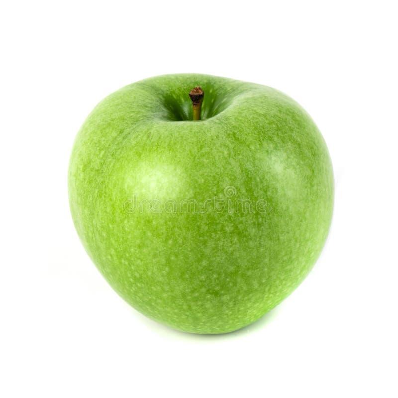 Η τέλεια φρέσκια πράσινη Apple που απομονώνεται στο άσπρο υπόβαθρο στοκ εικόνα