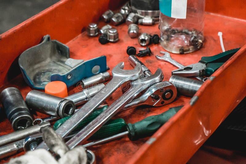 Η φωτογραφία του εργαλείου για τις επισκευές αυτοκινήτων στοκ εικόνες