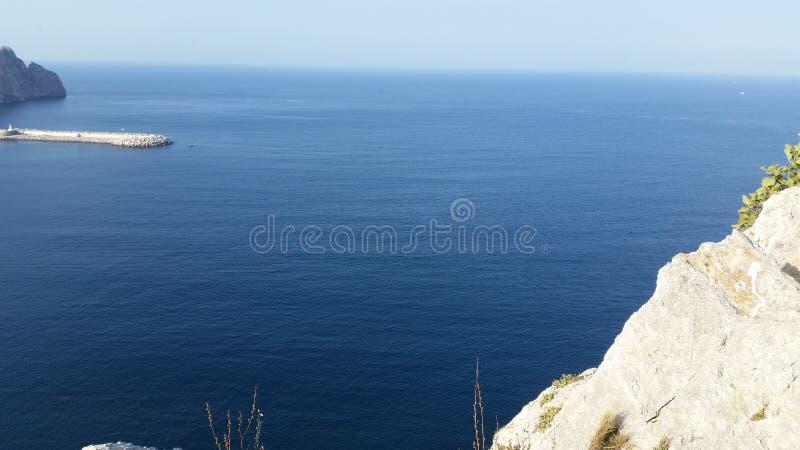 Θάλασσα του hoceima Al, Μαρόκο στοκ φωτογραφία