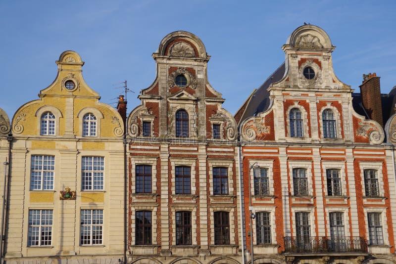 Θέση Arras στη Γαλλία με τα χαρακτηριστικά σπίτια στοκ φωτογραφία με δικαίωμα ελεύθερης χρήσης