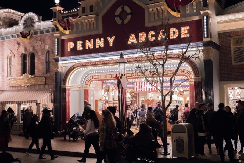 Θεματικό πάρκο θερέτρου Disneyland στο Αναχάιμ, Καλιφόρνια στοκ φωτογραφία με δικαίωμα ελεύθερης χρήσης