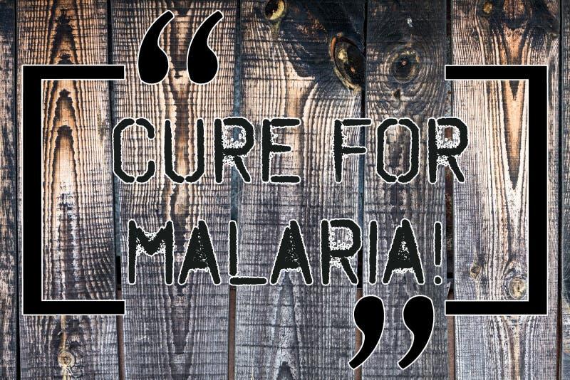 Θεραπεία κειμένων γραφής για την ελονοσία Έννοια έννοιας όπως το φάρμακο Primaquine που χρησιμοποιείται ενάντια στην ελονοσία για στοκ εικόνα με δικαίωμα ελεύθερης χρήσης