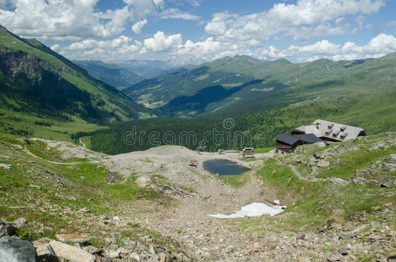 Θερινό αλπικό τοπίο από Rauristal, Αυστρία στοκ φωτογραφίες