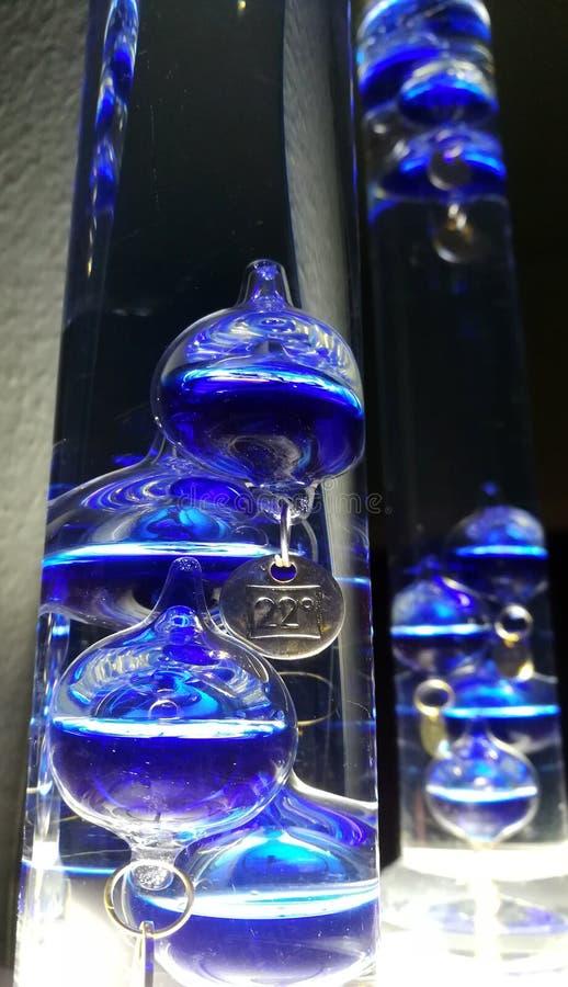 Θερμόμετρο Γαλιλαίος Galilei γυαλιού στοκ εικόνες