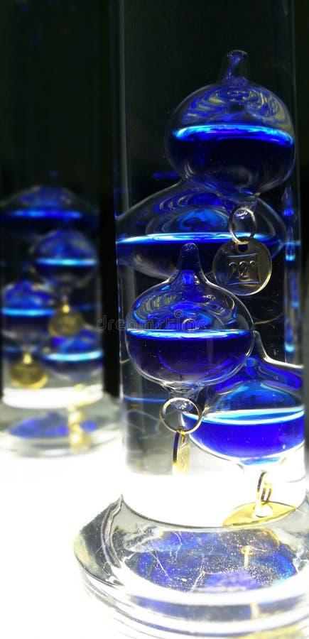 Θερμόμετρο Γαλιλαίος Galilei γυαλιού στοκ φωτογραφίες