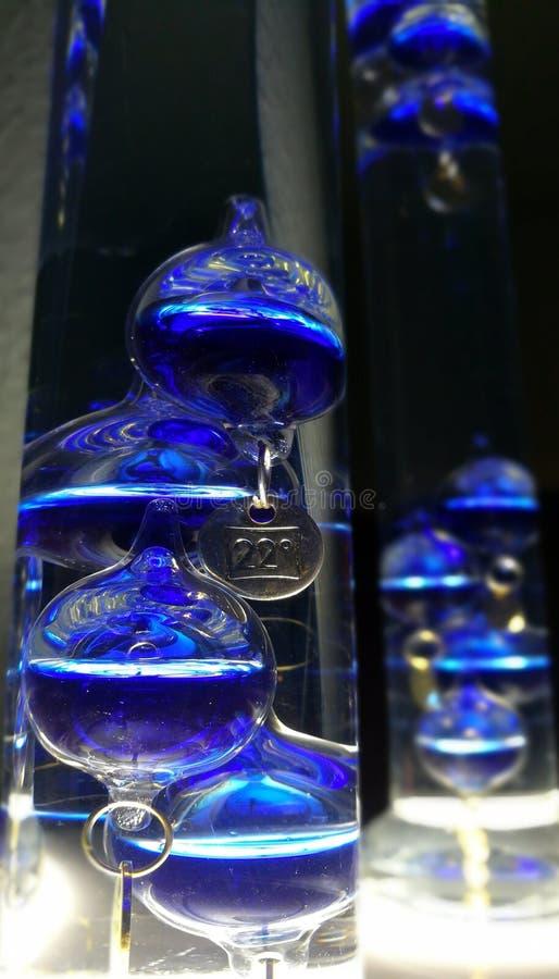 Θερμόμετρο Γαλιλαίος Galilei γυαλιού στοκ εικόνα με δικαίωμα ελεύθερης χρήσης