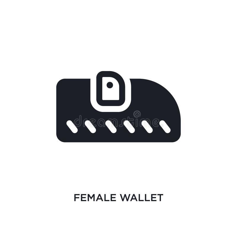 θηλυκό απομονωμένο πορτοφόλι εικονίδιο απλή απεικόνιση στοιχείων από τα εικονίδια έννοιας ιματισμού γυναικών θηλυκό σημάδι λογότυ διανυσματική απεικόνιση
