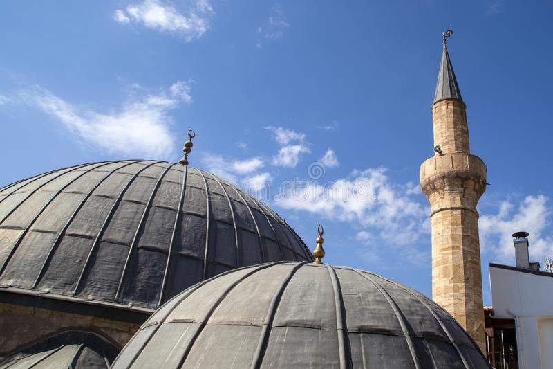 Θόλοι και μιναρές παλαιοί μουσουλμανικών τεμενών στοκ εικόνες με δικαίωμα ελεύθερης χρήσης