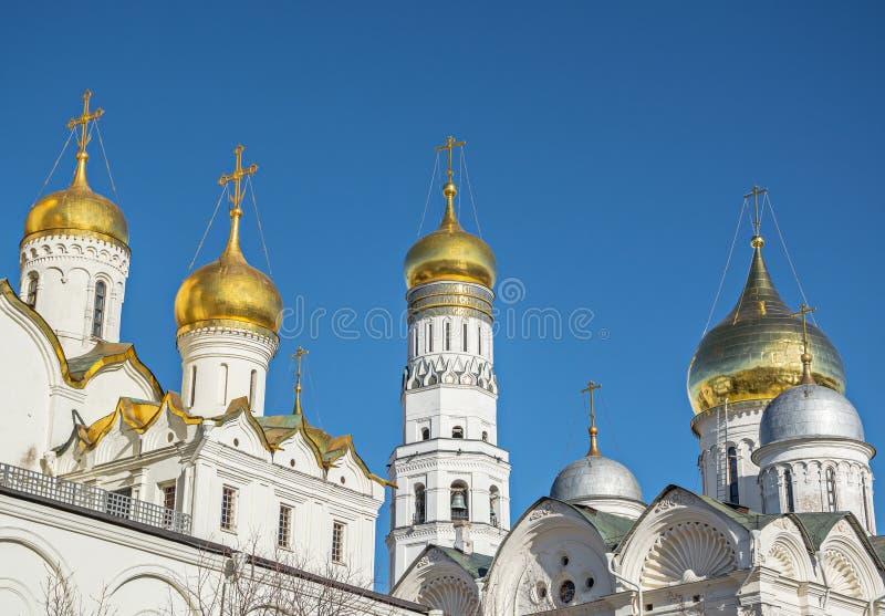 θόλοι Κρεμλίνο Μόσχα στοκ εικόνες με δικαίωμα ελεύθερης χρήσης