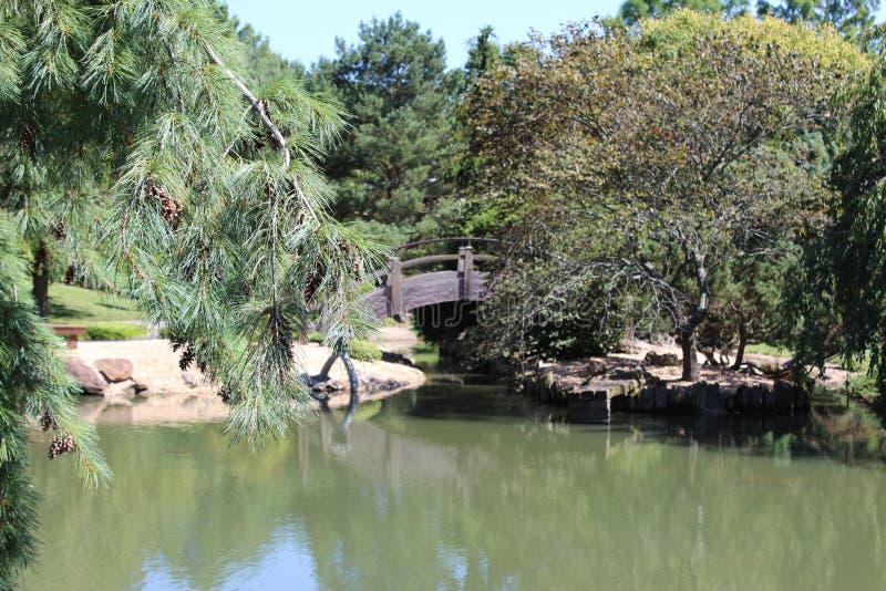 Ιαπωνικός κήπος περίπατων Mizumoto στοκ φωτογραφία με δικαίωμα ελεύθερης χρήσης