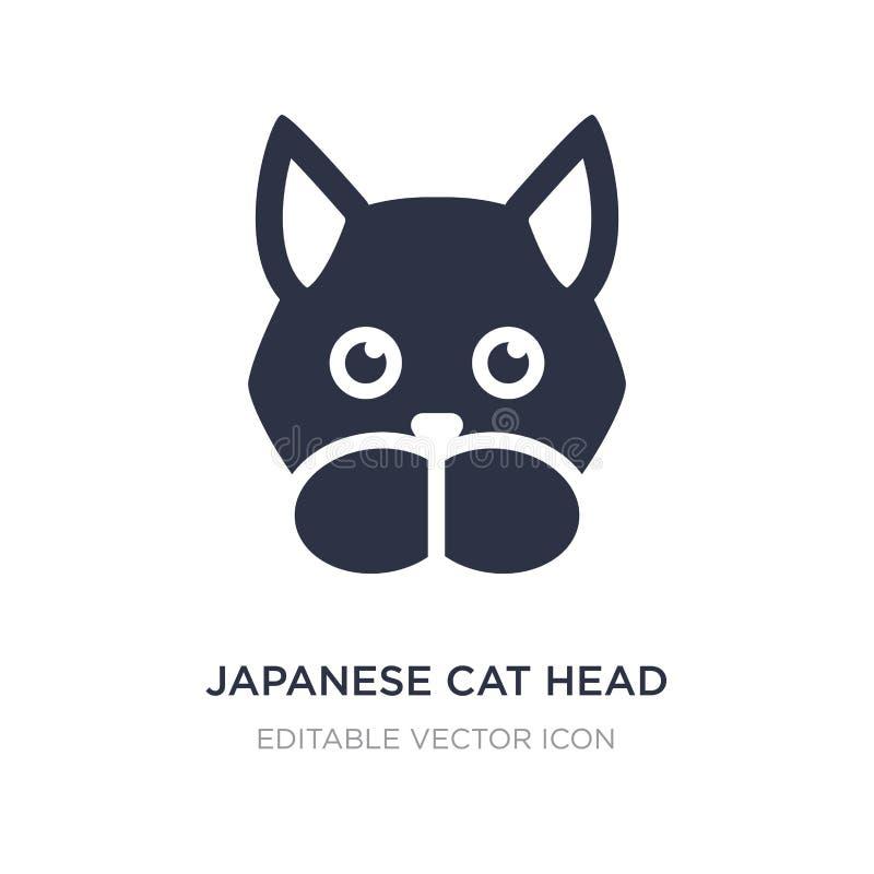 ιαπωνικό επικεφαλής εικονίδιο γατών στο άσπρο υπόβαθρο Απλή απεικόνιση στοιχείων από την έννοια ζώων ελεύθερη απεικόνιση δικαιώματος