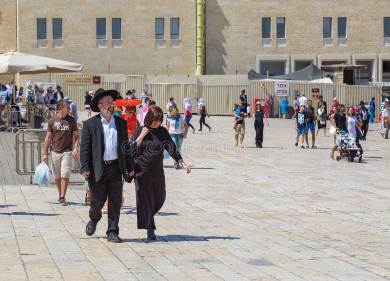 Ιερουσαλήμ, Παλαιστίνη, Ισραήλ 14 Αυγούστου 2015 ο δυτικός τοίχος στην παλαιά πόλη στοκ εικόνα με δικαίωμα ελεύθερης χρήσης