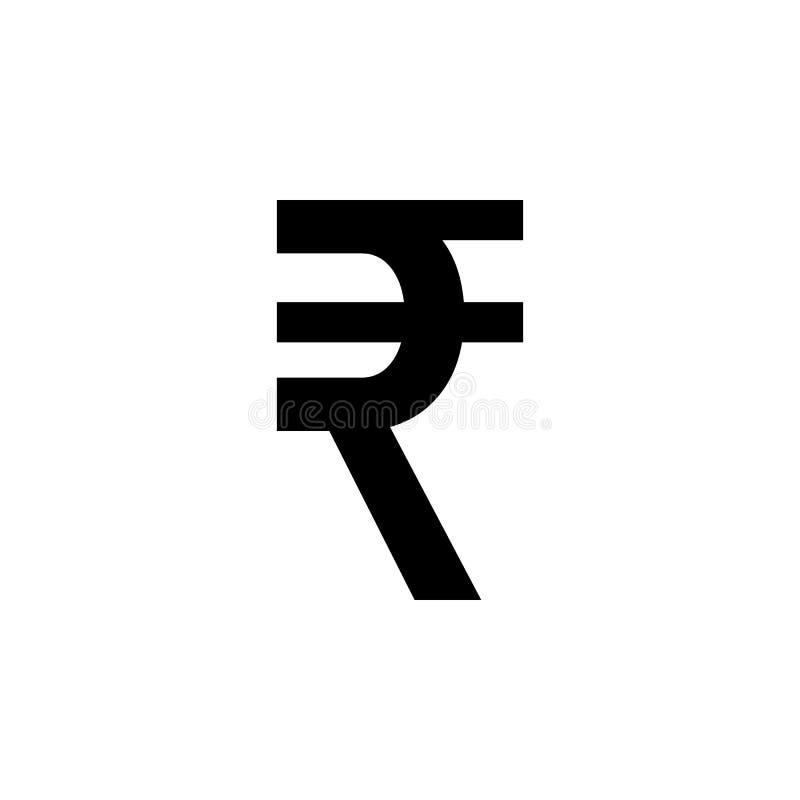 Ινδικό εικονίδιο ρουπίων Τα σημάδια και τα σύμβολα μπορούν να χρησιμοποιηθούν για τον Ιστό, λογότυπο, κινητό app, UI, UX απεικόνιση αποθεμάτων