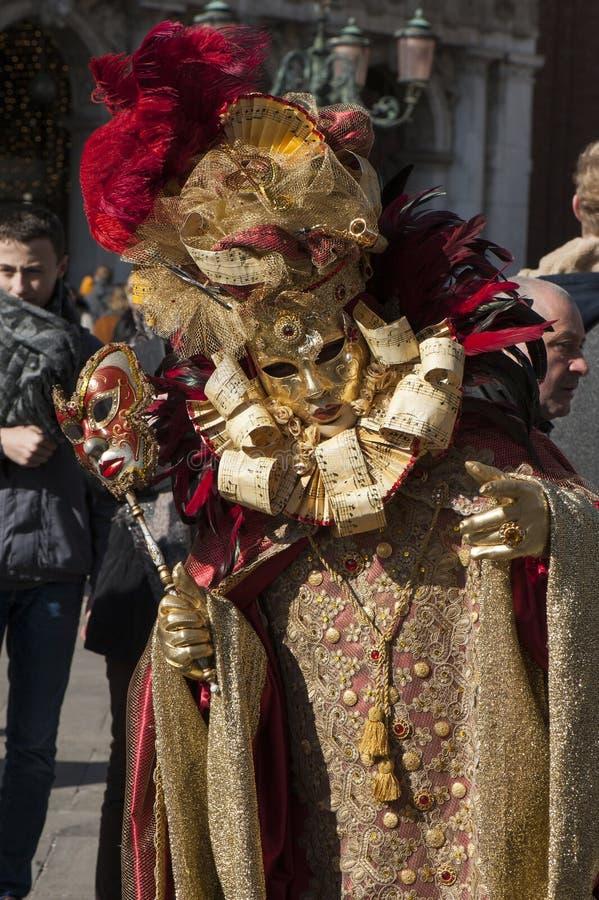 Ιταλία, Βενετία - 23 Φεβρουαρίου 2019: το δημοφιλέστερο καρναβάλι στην Ευρώπη στοκ εικόνες με δικαίωμα ελεύθερης χρήσης
