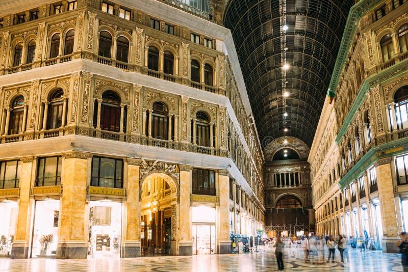 Ιταλία Νάπολη Εσωτερικό Galleria Umberto I στοκ φωτογραφίες