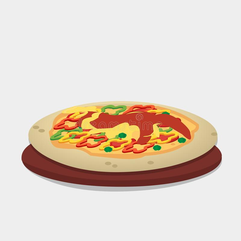 Ιταλική διανυσματική απεικόνιση πιτσών διανυσματική απεικόνιση