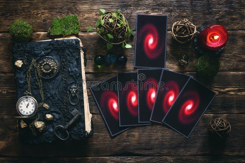 κάρτες tarot στοκ φωτογραφία