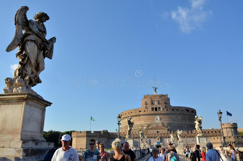κάστρο του Angelo sant στοκ εικόνα