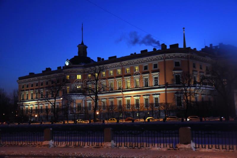 Κάστρο s Mikhailovsky στην Άγιος-Πετρούπολη, Ρωσία στοκ φωτογραφίες
