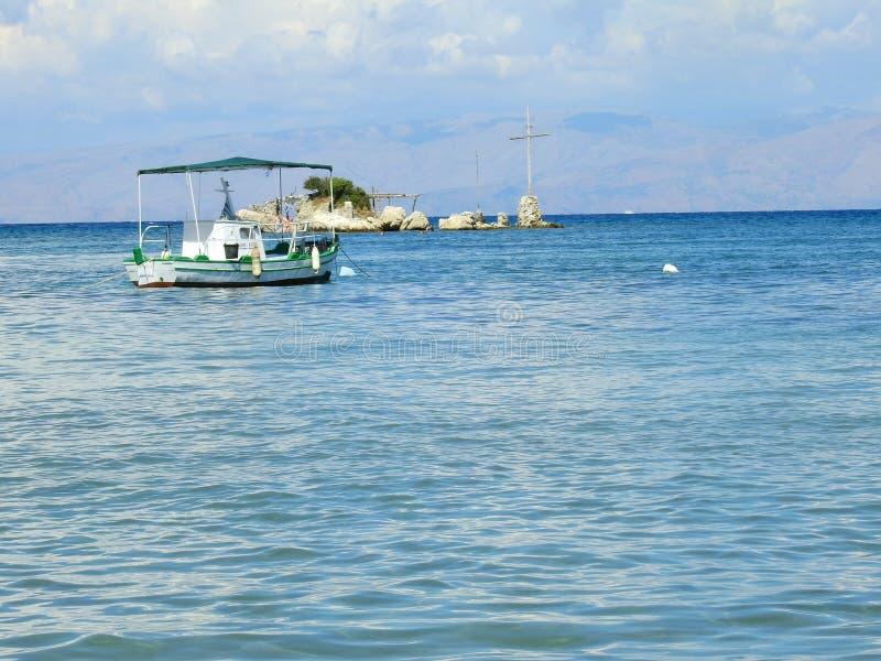 Κέρκυρα Ελλάδα στην παραλία sommer στοκ εικόνα