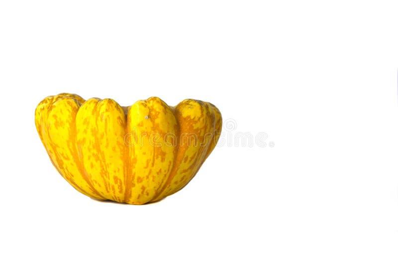 Κίτρινη κολοκύνθη που απομονώνεται στο άσπρο υπόβαθρο στοκ εικόνα με δικαίωμα ελεύθερης χρήσης