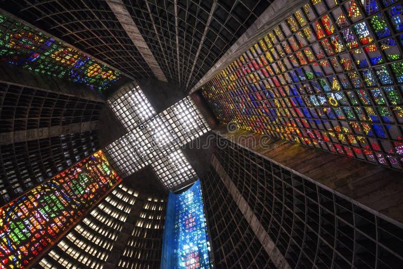 Καθεδρικός ναός Ρίο ντε Τζανέιρο, Ρίο ντε Τζανέιρο, Βραζιλία στοκ φωτογραφία