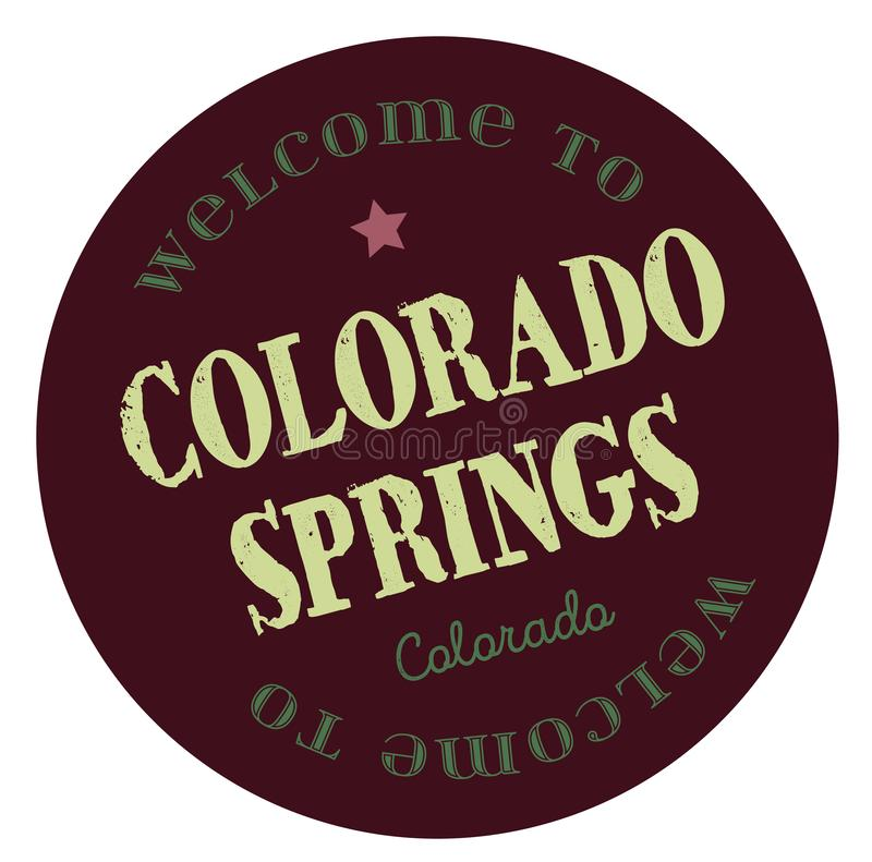 Καλωσορίστε στο Colorado Springs Κολοράντο διανυσματική απεικόνιση