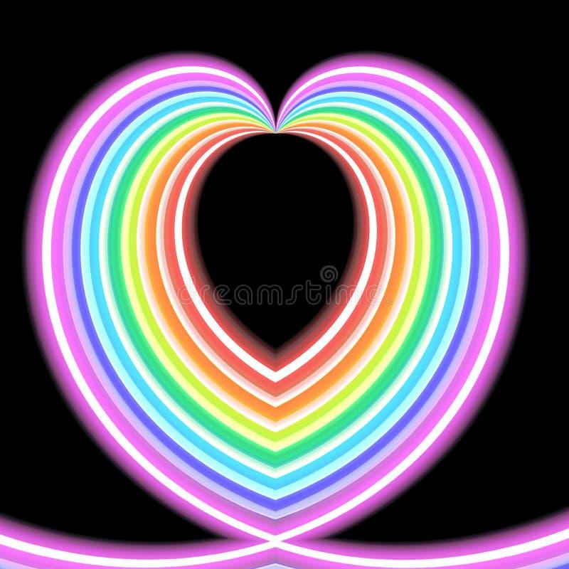 Καρδιά ουράνιων τόξων καραμελών ελεύθερη απεικόνιση δικαιώματος