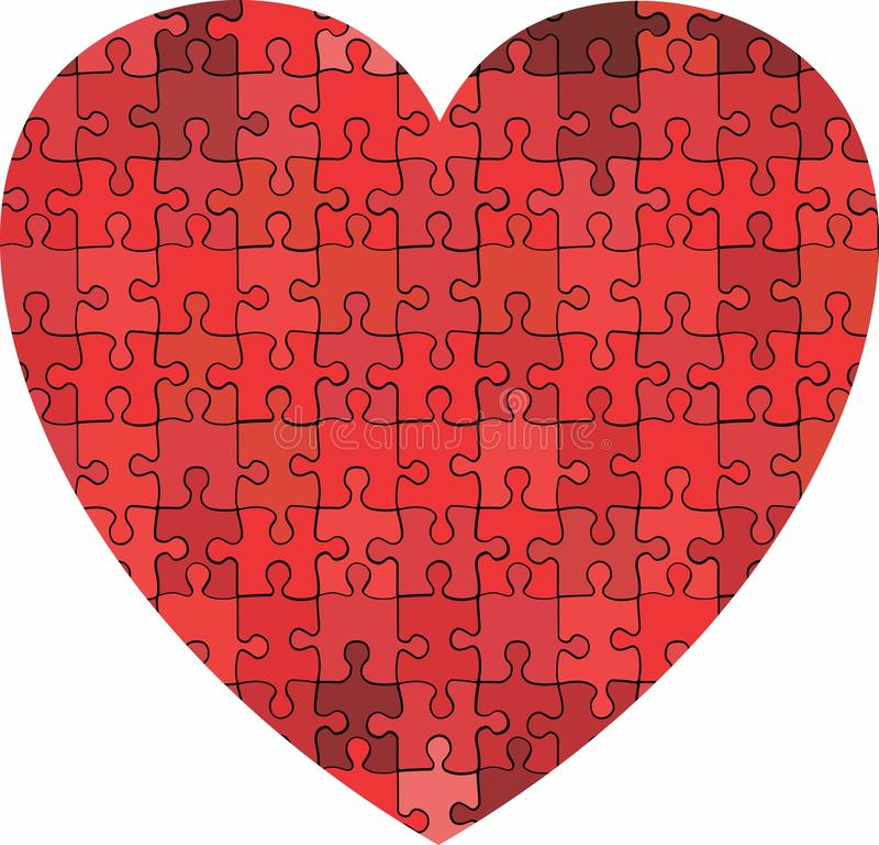 Καρδιά φιαγμένη από υπόβαθρο γρίφων απεικόνιση αποθεμάτων
