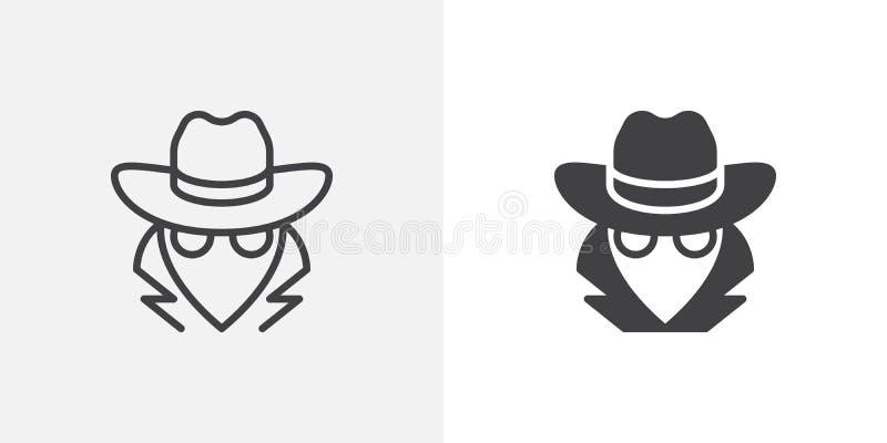 Κατάσκοπος, εικονίδιο πρακτόρων ελεύθερη απεικόνιση δικαιώματος