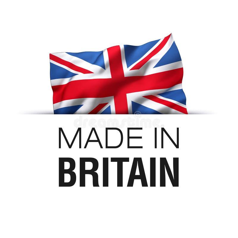 Κατασκευάζω στη Μεγάλη Βρετανία Αγγλία - την Ηνωμένη ετικέτα απεικόνιση αποθεμάτων