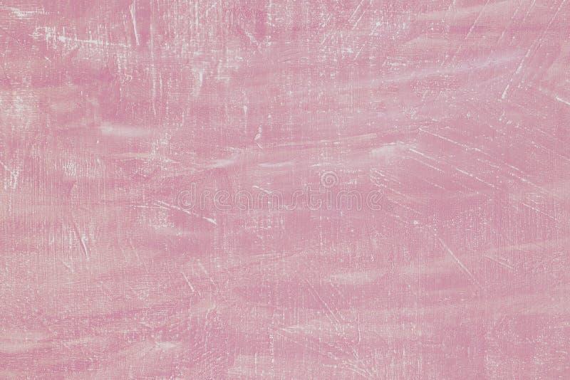 Κατασκευασμένο υπόβαθρο στόκων τσιμέντου κρητιδογραφιών ρόδινο Σύσταση ασβεστοκονιάματος συμπαγών τοίχων Τέλειο χρώμα χλωμό - ρόδ στοκ εικόνες