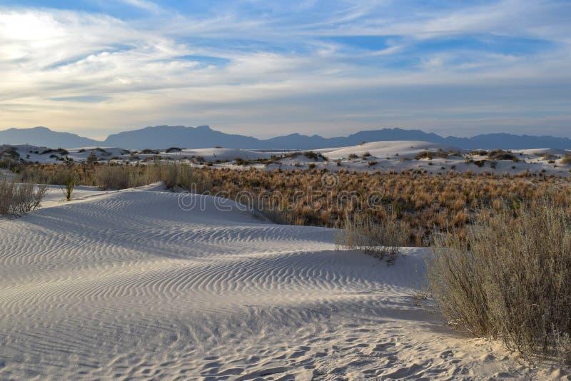 Καταπληκτική άσπρη έρημος άμμων στο Νέο Μεξικό, ΗΠΑ στοκ φωτογραφία με δικαίωμα ελεύθερης χρήσης